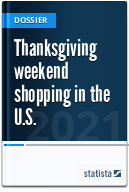 Thanksgiving weekend shopping in the U.S.