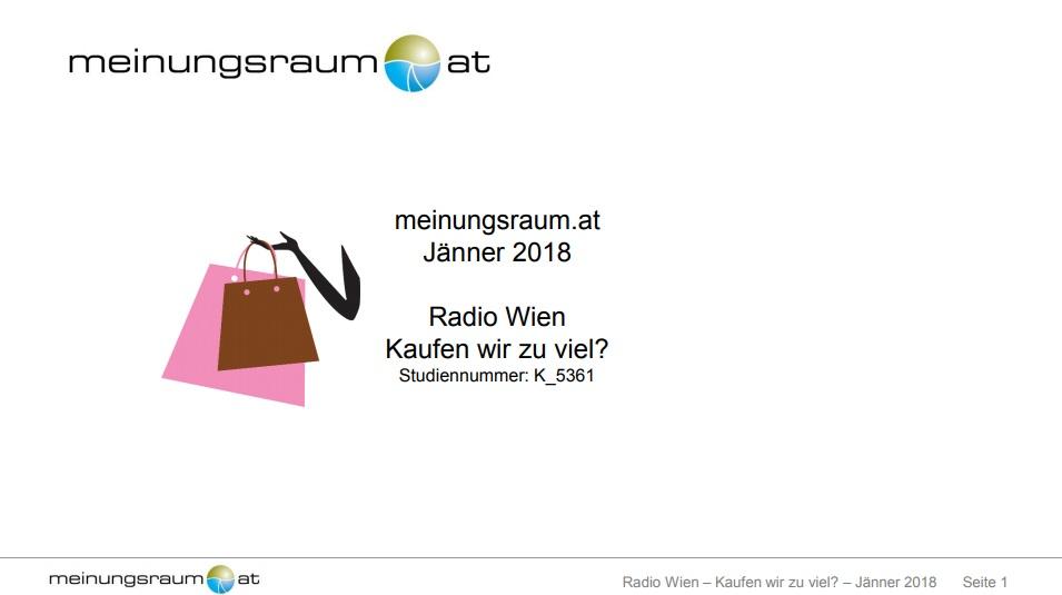 Studie zum Konsumverhalten in Österreich 2018