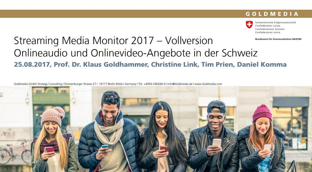 Onlineaudio und Onlinevideo-Angebote in der Schweiz