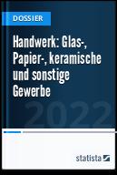 Handwerk: Glas-, Papier-, keramische und sonstige Gewerbe