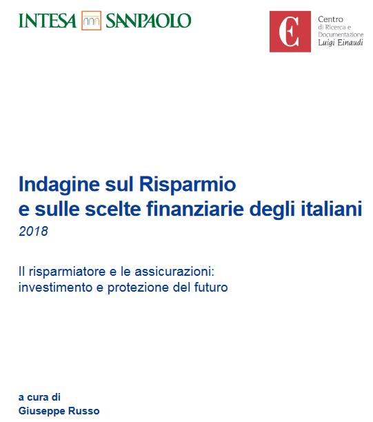 Indagine sul Risparmio e sulle scelte finanziarie degli italiani 2018