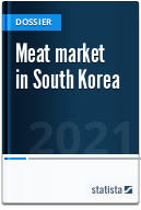 Meat market in South Korea