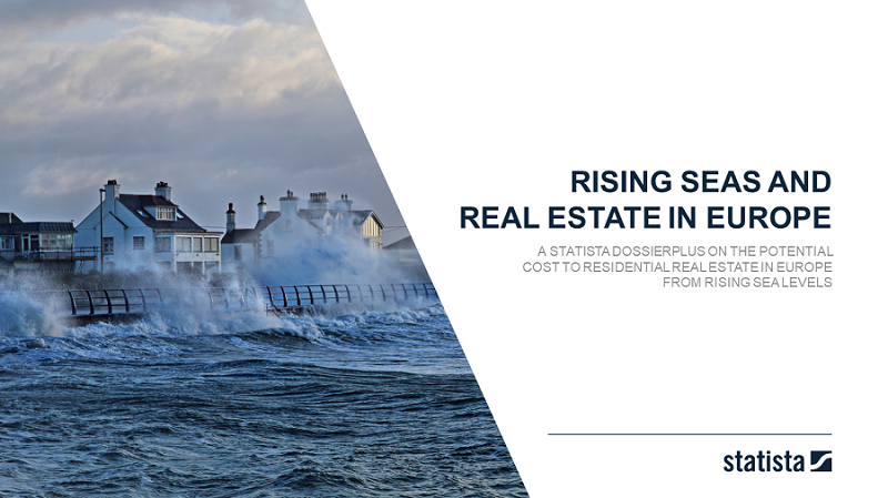 Potential cost to residential real estate from rising sea levels in European cities